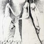 Anomalia, rys. tuszem, 42x30cm