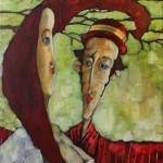 CERWONY MELONIK 2011,ol. pł., 61x50cm