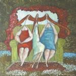 KANAPOWE BABKI 2011, ol. pł., 60x60cm