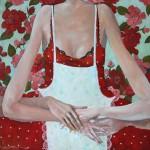 Kuchenne obłapianie 2014, ol. pł., 70x70 cm