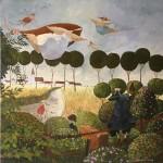 PANNY LATAWICE 2008, ol. pł., 80X80 cm