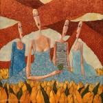 Szczęście z tulipanowego pola  2014, ol. pł., 60x60cm
